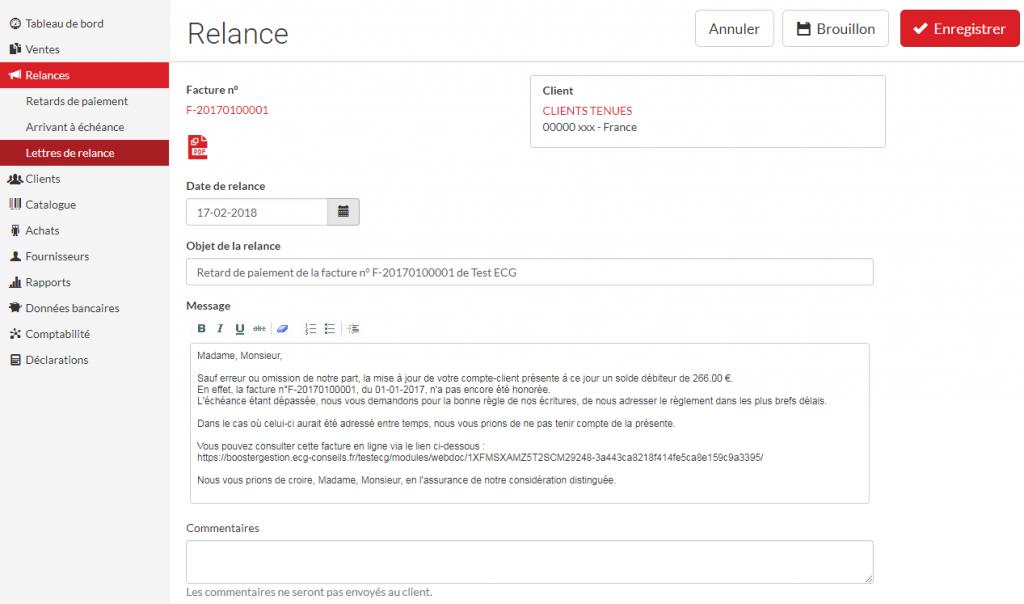 relance créance client
